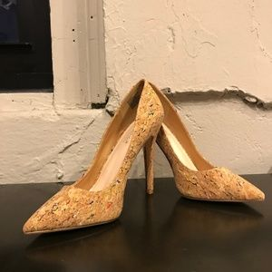 Shoe Dazzle Shoes - Cork Pumps